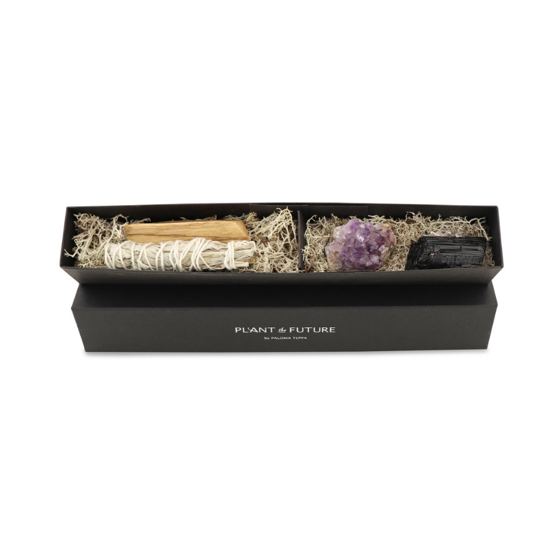 Gift box with Amethyst, Tourmaline, Sage and Palo Santo