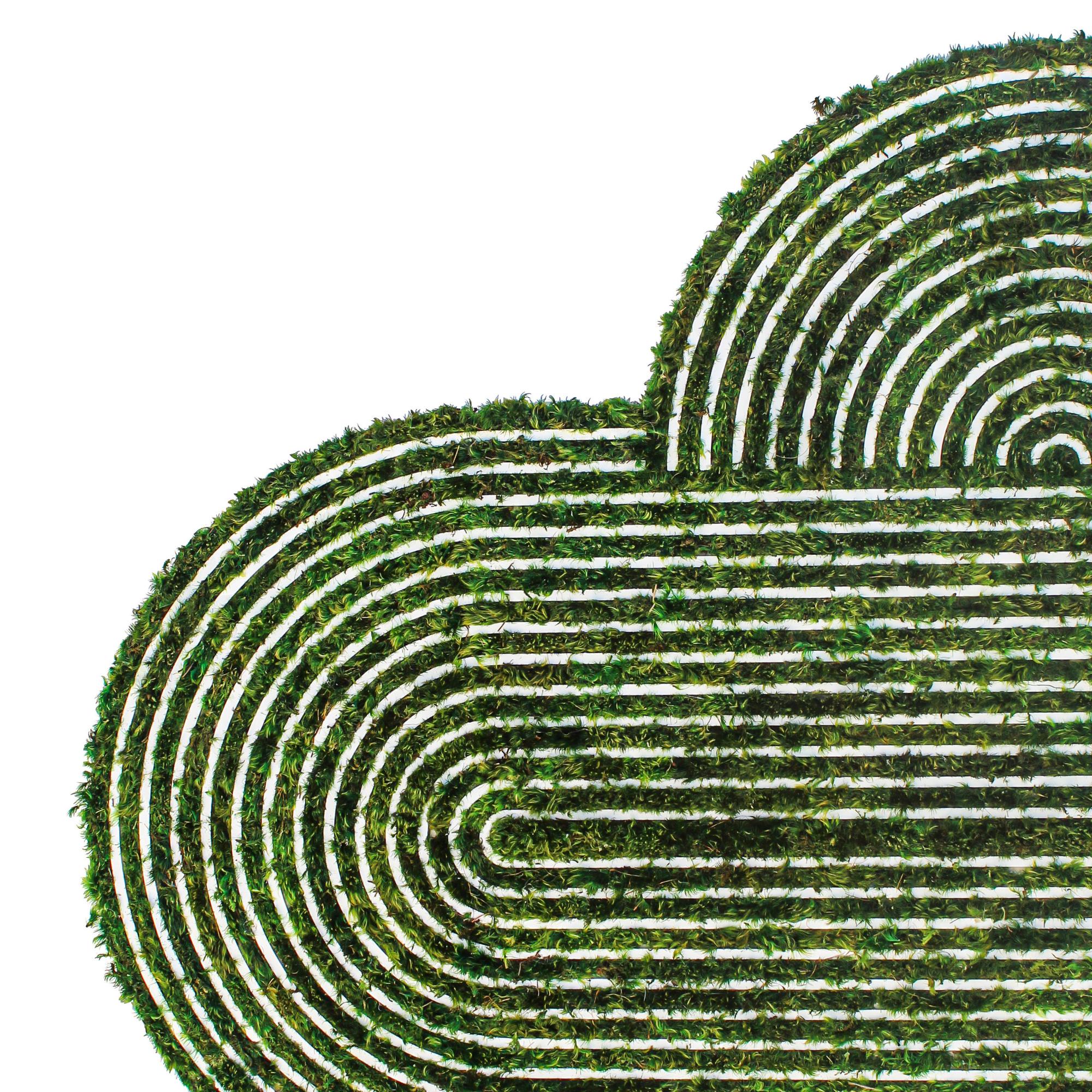 "Optical Moss Art - Divinity (61.5"" H x 49"" W)"