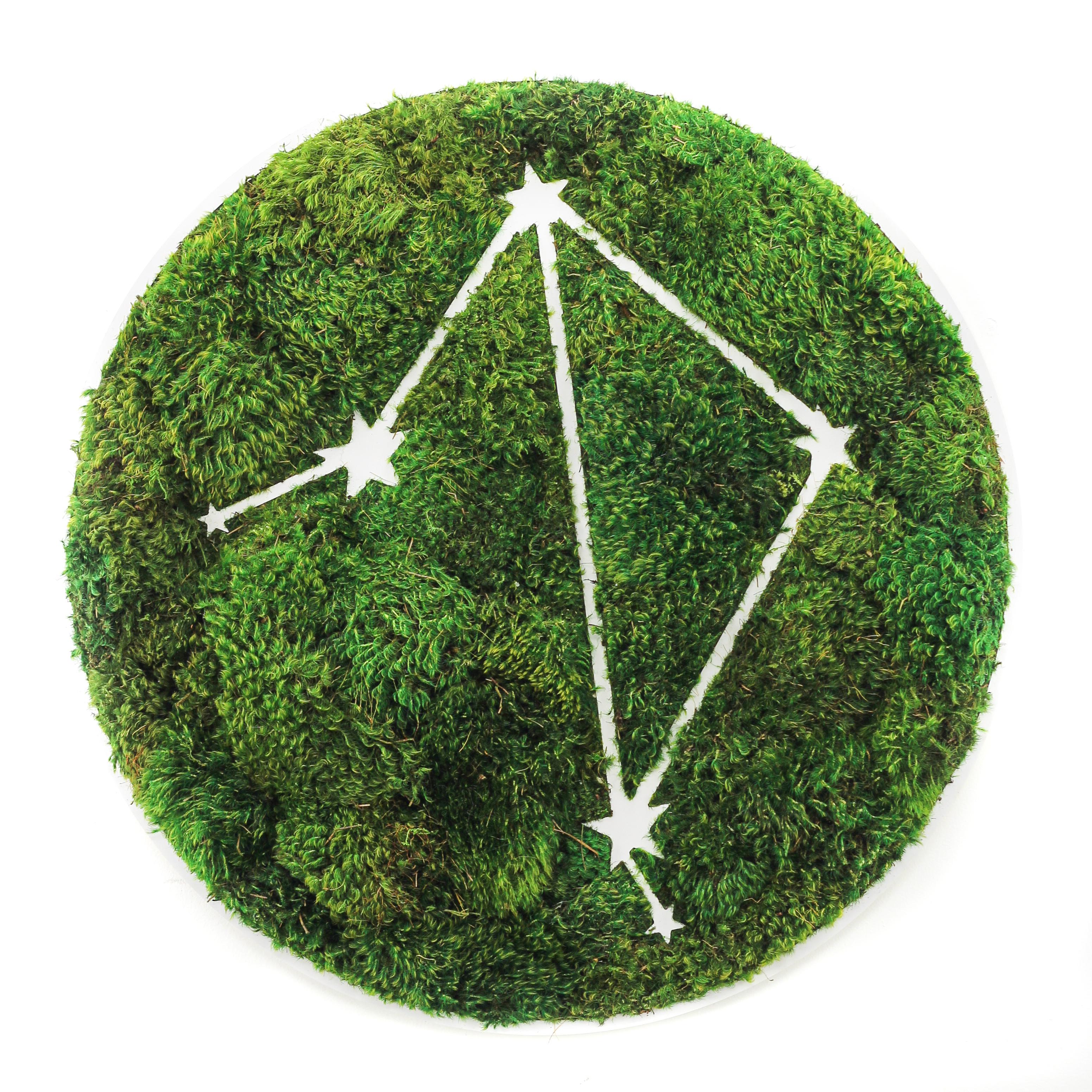 """Libra Constellation - Moss Wall Art (30"""" Diameter)"""