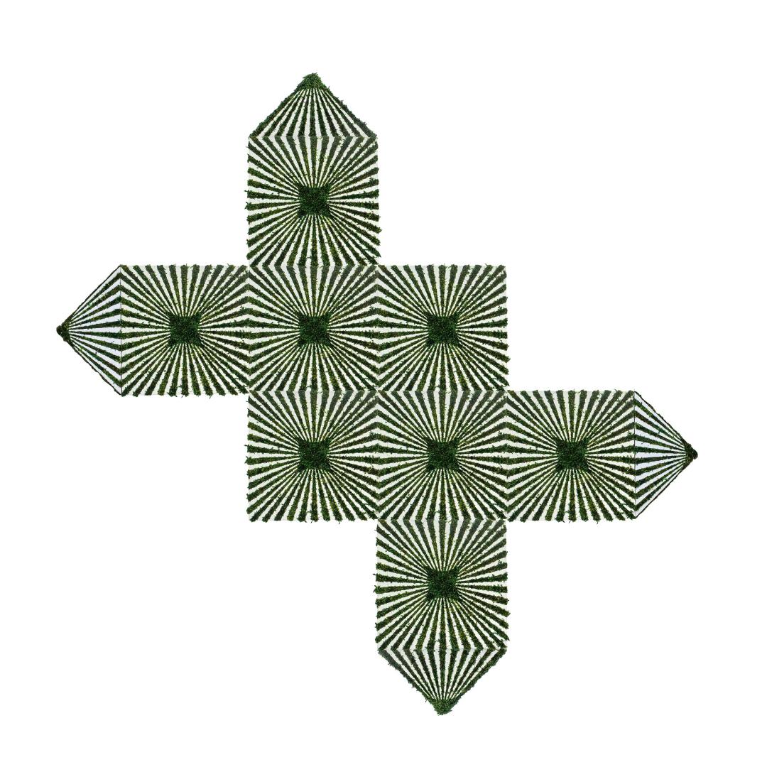 """Optical Moss Art - Direction (120"""" H x 120"""" W)"""