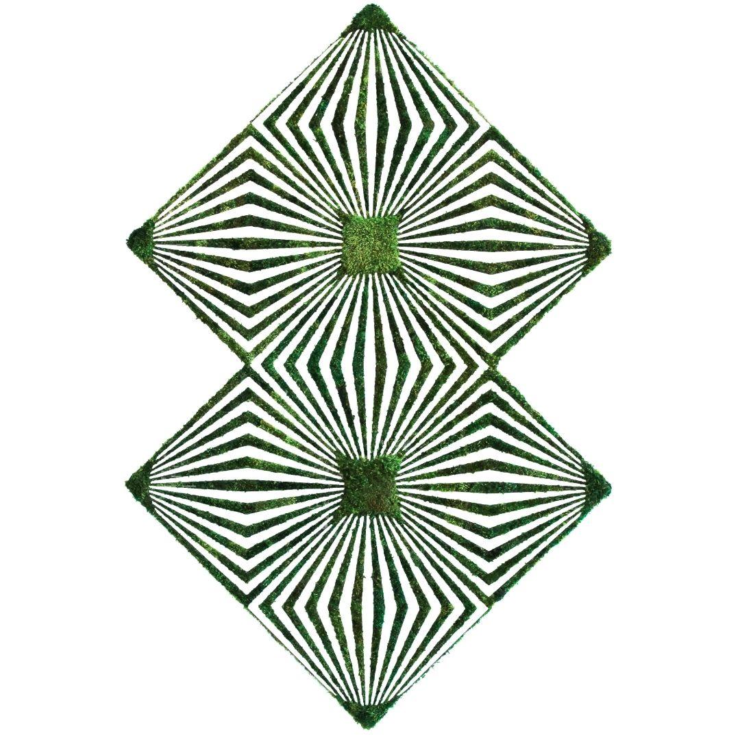 "Optical Moss Art - Duality (72"" H x  48"" W)"