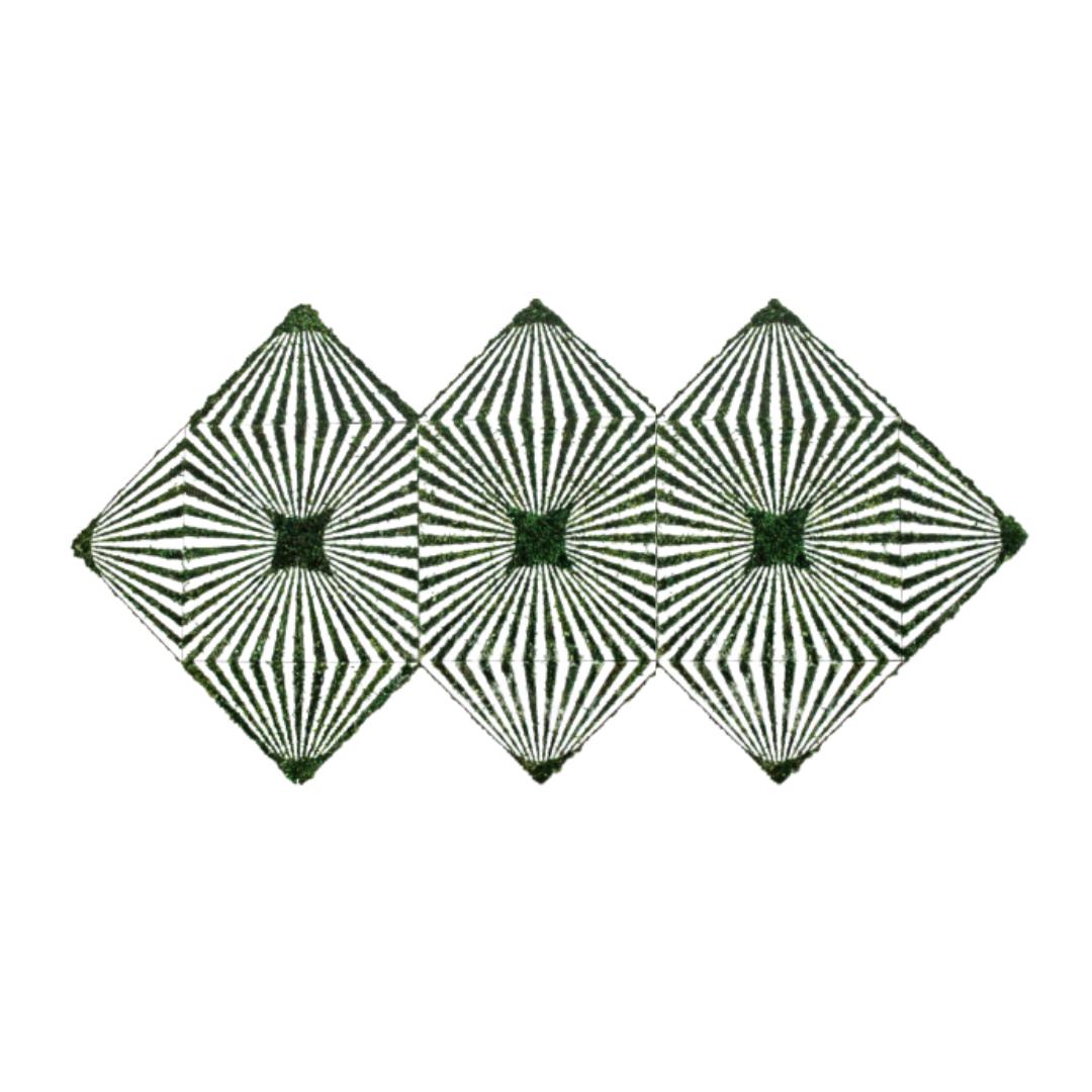 "Optical Moss Art - Tres (48"" H x  96"" W)"