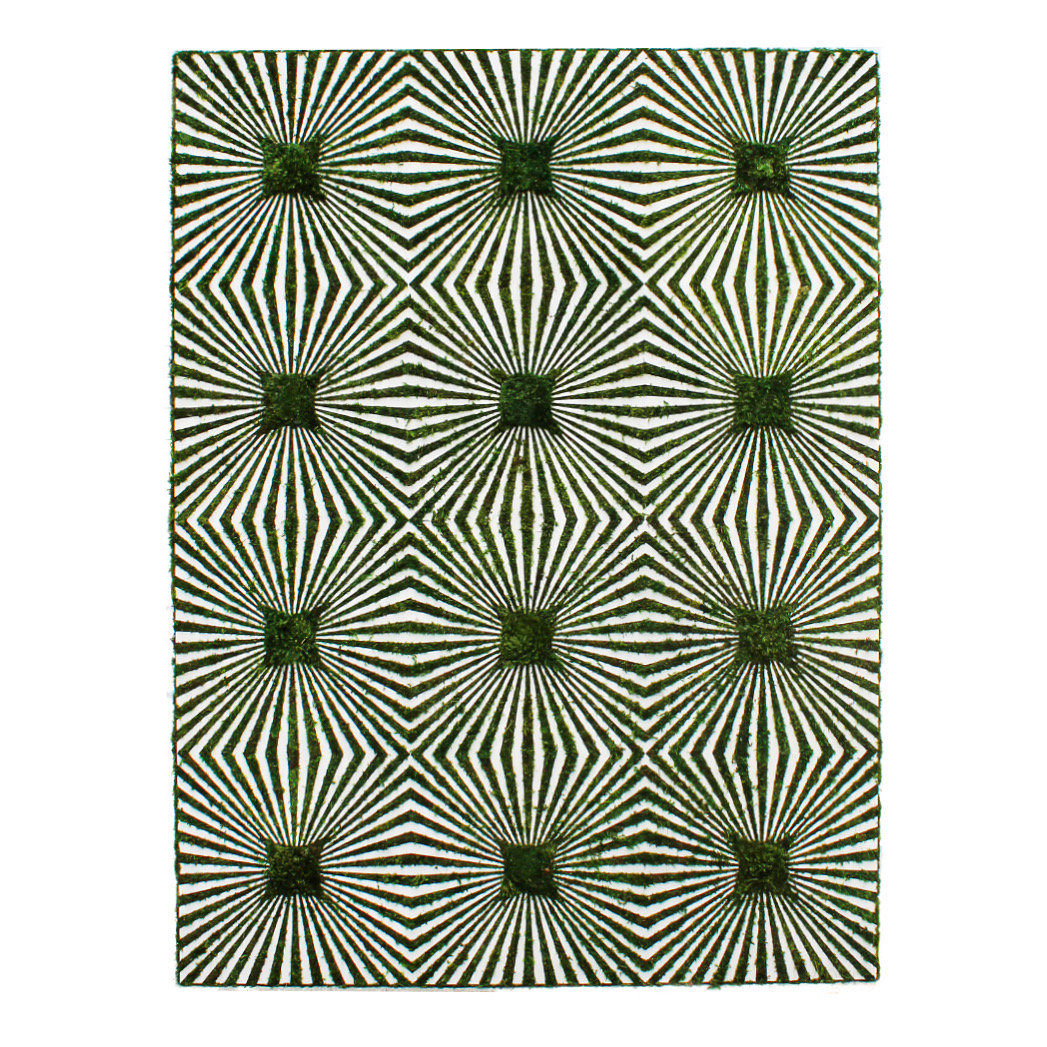 """Optical Moss Art - Completion (76"""" H x 57"""" W)"""