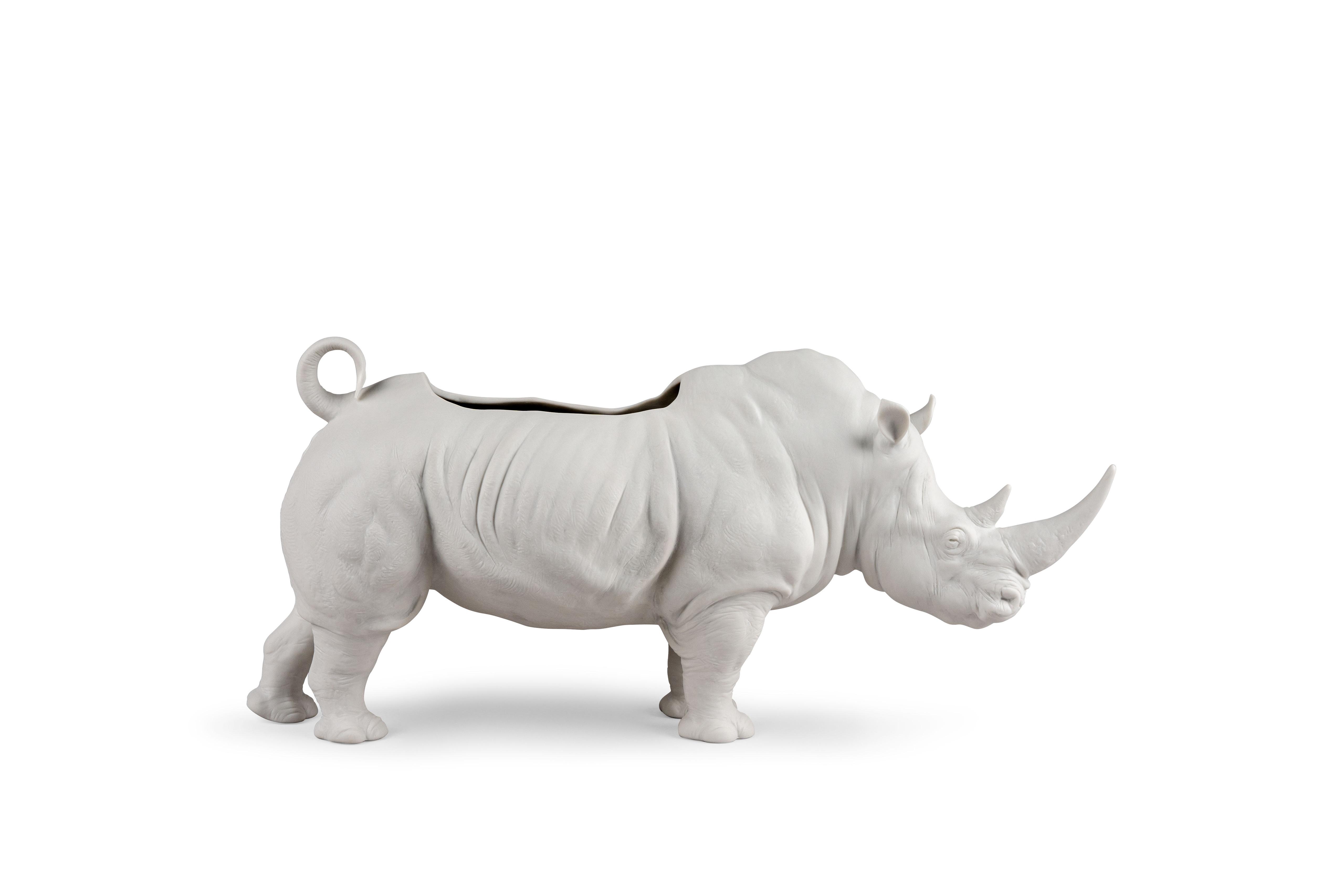 Lladró - Rhino Figurine Planter
