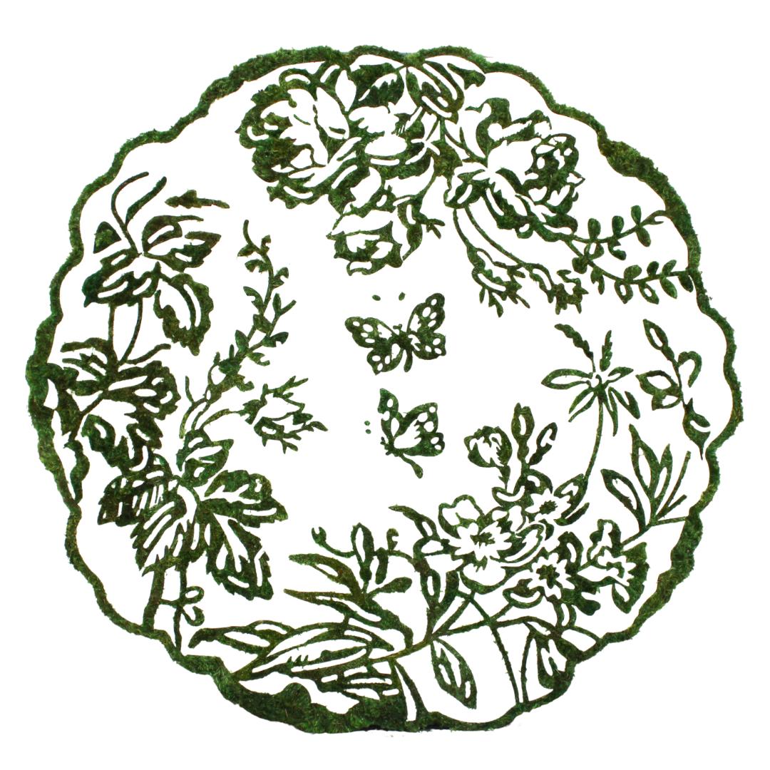 """Moss Art - """"Enchanted Garden"""" (48"""" Diameter)"""