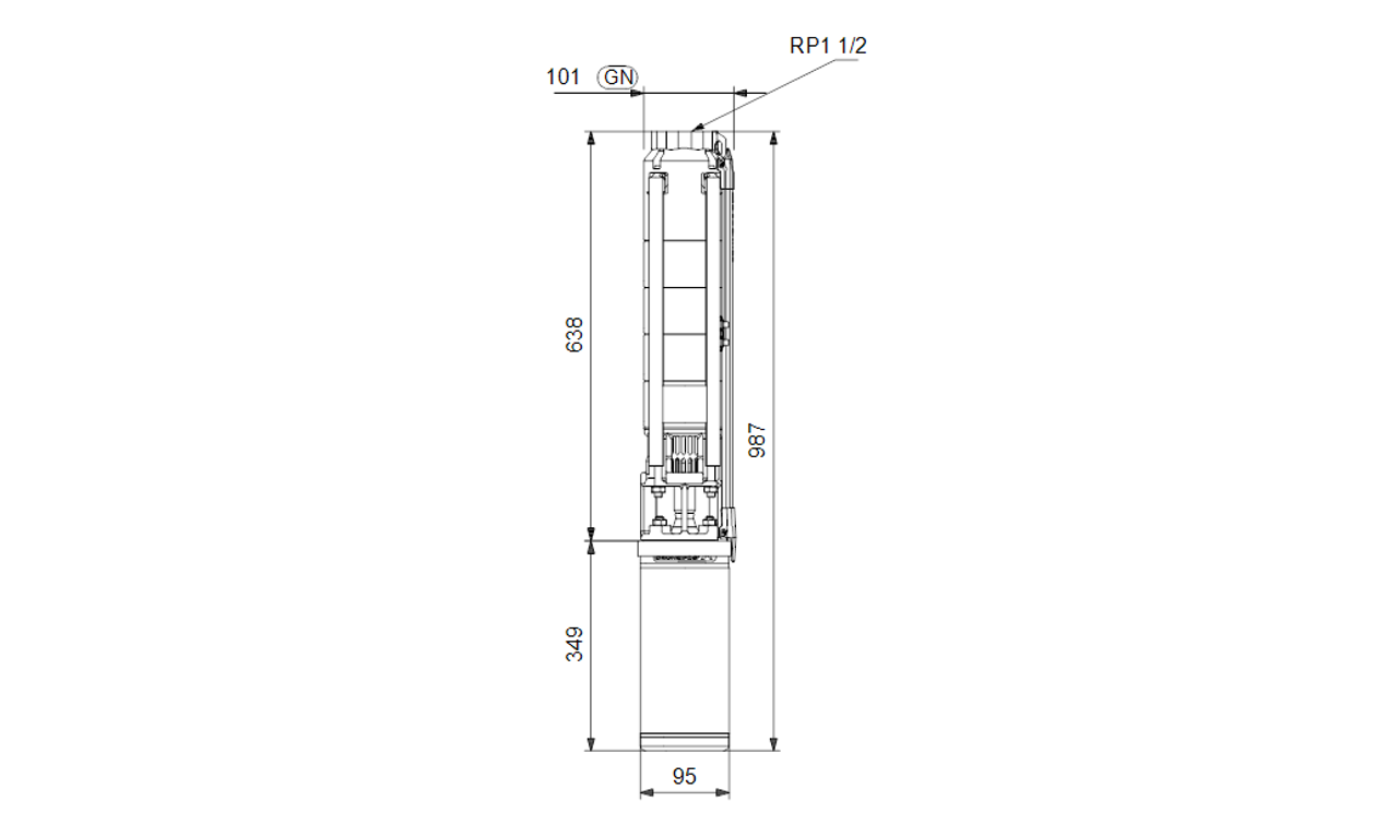 SP 7- 8 Dimensional Drawing