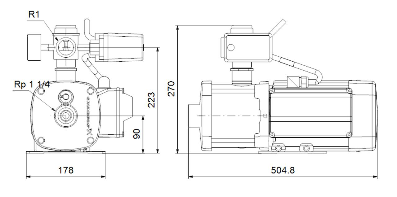 CMB 5-75 Dimensional Drawings