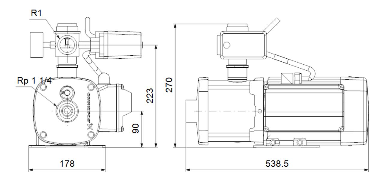 CMB 5-93 Dimensional Drawings