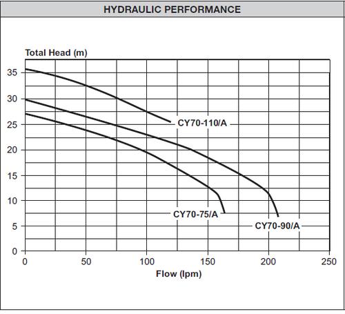 CY70-110/A  Performance Curve