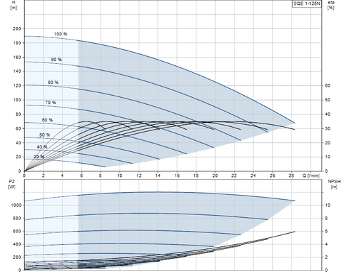 SQE 1-125 N Performance Curve