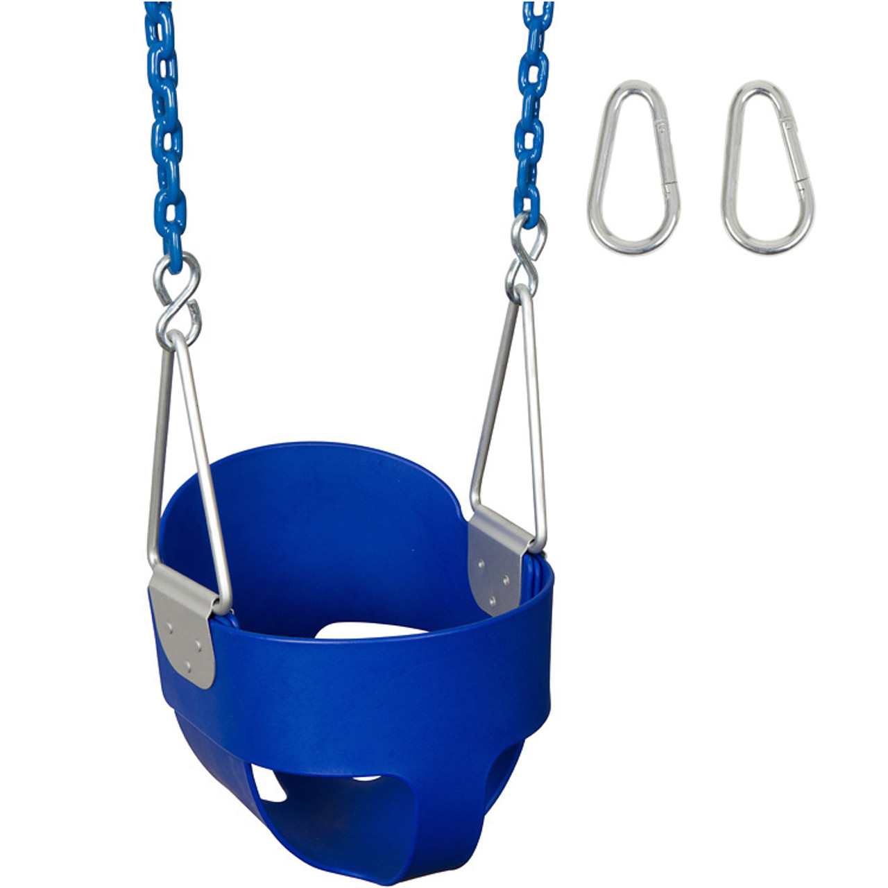 Bucket Swing Seat With Coated Chains