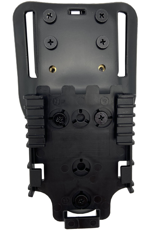 Modified Safariland Universal Belt Loop (UBL) Mid-Ride Holster Mount with Quick Lock System (QLS) Receiver Plate