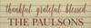 Option 1: Last Name Only (Shown in Old Cream with Burgundy lettering)