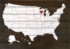 Wholesale Pallet-Style Personalized Sign   US Map with Heart Over State   Option 1 - Heart Only (Shown in Walnut Stain with Cottage White & Red)