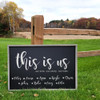 """24""""x36"""" Framed Sign """"This Is Us"""" - Personalized with Your Own Text!"""