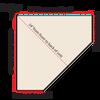 Top-Down diagram of corner TV cabinet measurements