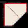 Top-Down diagram of corner shelf measurements