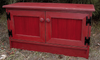 Shown in Old Red with Beadboard doors