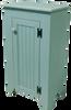Shown in Old Sea Blue with beadboard door