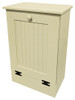 Wood Tilt-Out Trash Bin | Pine Furniture Made in the USA | Sawdust City Trash Bin in Solid Cream