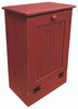 Wood Tilt-Out Trash Bin | Pine Furniture Made in the USA | Sawdust City Trash Bin in Old Red