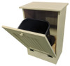 Wood Tilt-Out Trash Bin | Pine Furniture Made in the USA | Sawdust City Trash Bin in open Solid Cream
