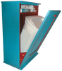 Shown open in custom paint style Old Turquoise and Old Red
