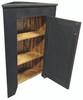 Shown open in Old Black with beadboard door