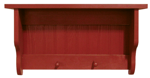Shown in Old Red with a beadboard back
