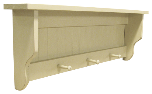 Shown in Old Cream with a beadboard back