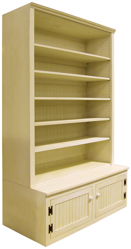 """Shown in Old Cream with 15"""" deep shelves"""