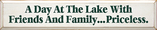Shown in Old Cottage White with Green lettering