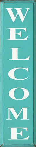 Shown in Old Aqua with Cottage White lettering