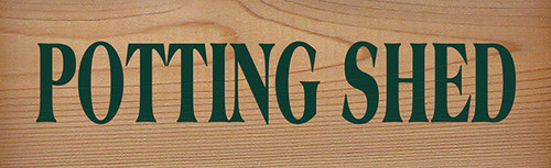 Shown on Natural Red Cedar with Green lettering