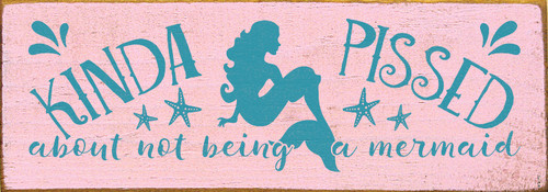 Shown in Old Pink with Turquoise lettering