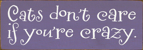 Shown in Old Purple with Cottage White lettering