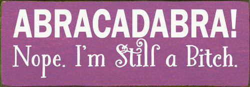 Shown in Old Plum with Cottage White lettering