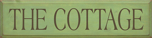 Shown in Old Celery with Brown lettering