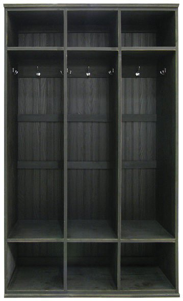 Tall 3-Locker Unit