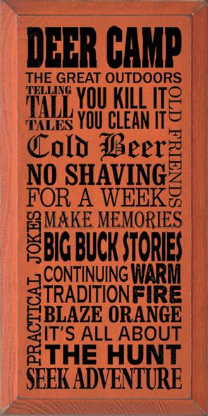 Shown in Old Burnt Orange with Black lettering