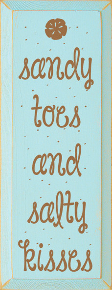 Shown in Old Baby Aqua with Toffee lettering