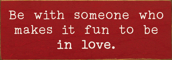 Simple Wood Romantic Sign in Old Red & Cottage White