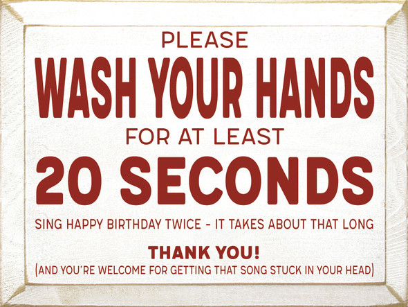 Wash Your Hands Wood Sign | Wholesale Wood Signs With Sayings | Sawdust City Wholesale Wood Signs