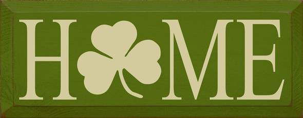 Home (shamrock O) | Sawdust City Wood Signs - Old Moss & Cream