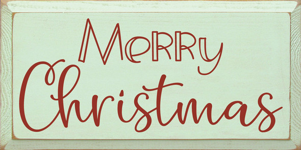 Merry Christmas (2020) | Sawdust City Wood Signs - Old Baby Green & Red