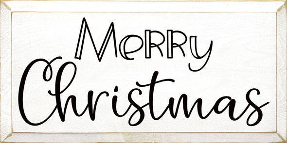 Merry Christmas (2020) | Sawdust City Wood Signs - Old Cottage White & Black