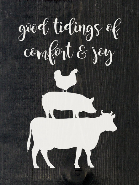 Good tidings of comfort and joy (farm animals) | Sawdust City Wood Signs
