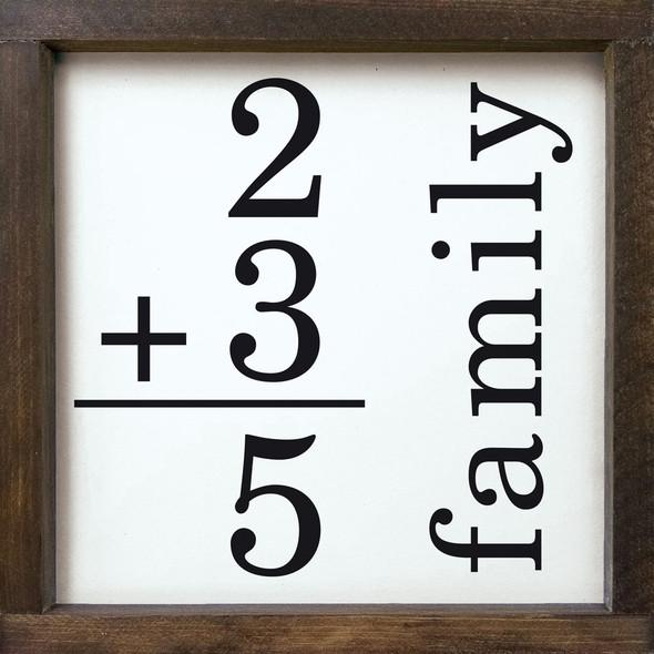 Family Math Sign (custom) | Sawdust City Wood Signs