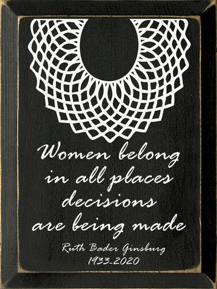Ruth Bader Ginsburg Quote Sign