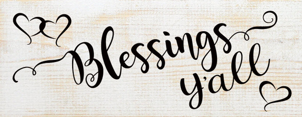Blessings Y'all | Cute Wood Wholesale Signs | Sawdust City Wood Signs